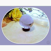 Purple Quartz Crystal Ball & Stand Set 55mm