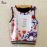 You Are The Best Print Crop Top