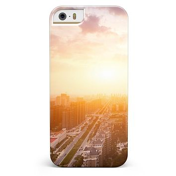 Cityscape at Sunset iPhone 5/5s or SE INK-Fuzed Case