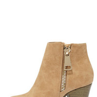 Got What You Want Beige Ankle Boots