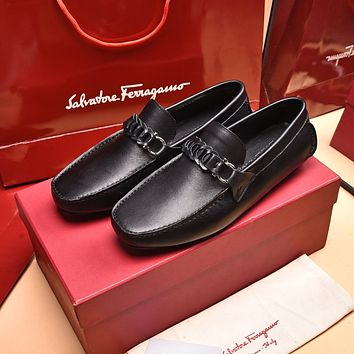 Ferragamo Men's Casual Running Sport Shoes Sneakers Leather Shoes 062152