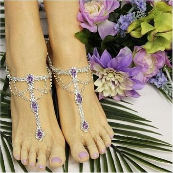 SOMETHING LILAC  barefoot sandals - lavender