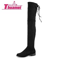 Slim Boots Sexy over the knee high Suede women snow boots women's fashion winter thigh high boots shoes woman #Y1163863F Macchar Cosplay Catalogue