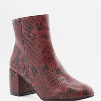 Thelma Faux Python Ankle Boots | Urban Outfitters