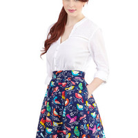 ModCloth Bird Mid-length A-line This Songbird is For You Skirt