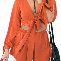 Cupshe Got A Hold on Me Plunging Romper