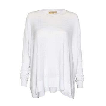 Vic Oversized Rectangle Top With Rib Cuff   Alice + Olivia