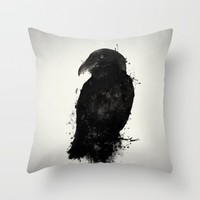 The Raven Throw Pillow by Nicklas Gustafsson | Society6