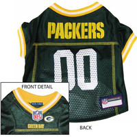 Green Bay Packers NFL Dog Jersey - Large