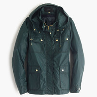 J.Crew Womens Hooded Downtown Field Jacket With Zip-Out Vest