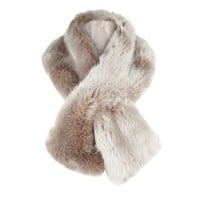 Jacques Vert Palomino Luxury Faux Fur Scarf- at Debenhams Mobile