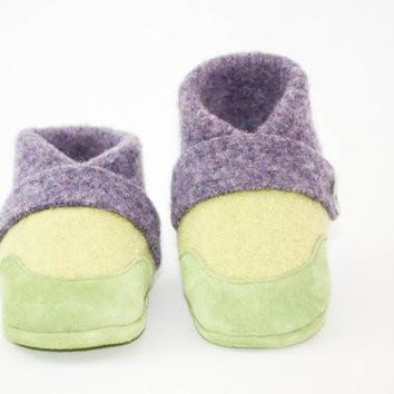 Toddler Wool Slippers, Wool Baby Slippers