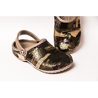 Camouflage Green Clogs