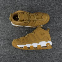 Nike Air More Uptempo Wheat AA4060-200 Size 36---46