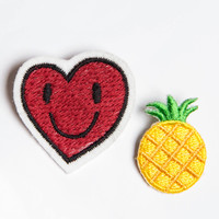 Pineapple and Heart Pin Set
