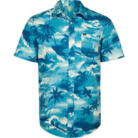 Hurley Island Hawaii Mens Shirt Blue  In Sizes Xx-Large For Men 21053520006