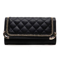 A Day At the Ranch Quilted Black Clutch to Crossbody Purse
