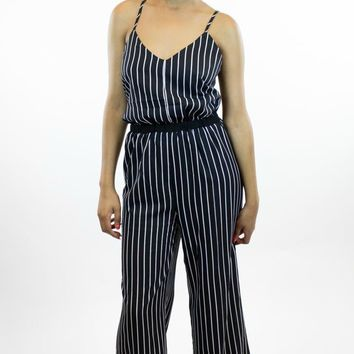 Very J   Perfect Line Up Jumpsuit in Black