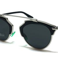 DIOR So Real Sunglasses Color Black and Palladium Silver