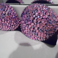 Cotton Candy Bedazzled Bra.