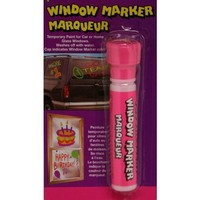 Fluorescent Window Marker Carded-Pink