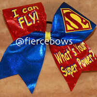 I Can Fly, What's Your Superpower Cheer Bow