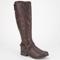 Bamboo Jagger Womens Boots Brown  In Sizes