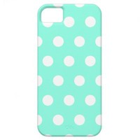 Mint Green Polka Dot iPhone 5 Case from Zazzle.com