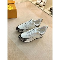 LV Louis Vuitton 2021 NEW ARRIVALS Men's And Women's RUN AWAY Sneakers Shoes