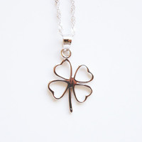 Sterling Silver clover pendant and chain