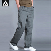Spring Autumn New Big Mens Plus Size XXXXL 5XL 6XL Army Green Cargo Pants Man Wide Legs Simple Trousers