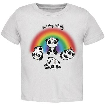 Panda Pandicorn One Day I'll Fly Toddler T Shirt