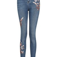 TALL Floral Embroidered Jamie Jeans - Clothing