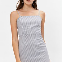 Kendall and Kylie Tie Back Shift Dress at PacSun.com - white/navy | PacSun