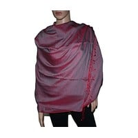 Dualside Red Pashmina scarf