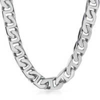 """Men's Link Chain in Stainless Steel, 24"""" - For Husband - Recipient - Gift Guide - Helzberg Diamonds"""