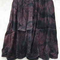 Womens Flirty Skirts Black Brown Tie Die Rayon Boho Chic Gypsy Skirts