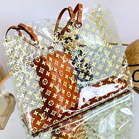 Louis Vuitton LV new product hot sale transparent printed letters ladies two-piece shoulder bag diagonal bag