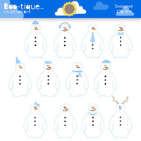 Snowman Digital Clipart for Instant Download. Snowman Clipart. Christmas Clip art. Winter Clipart. Xmas Clip art. Snowman Clip art. Clipart