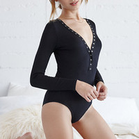 LA Hearts Long Sleeve Henley Bodysuit at PacSun.com
