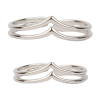Twins Silver Ring