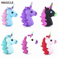 Real 1800mah Unicorn powerbank Cute Portable Emoji Power Bank Charger Cartoon USB Battery Bateria For Iphone 7 samsung Note 7