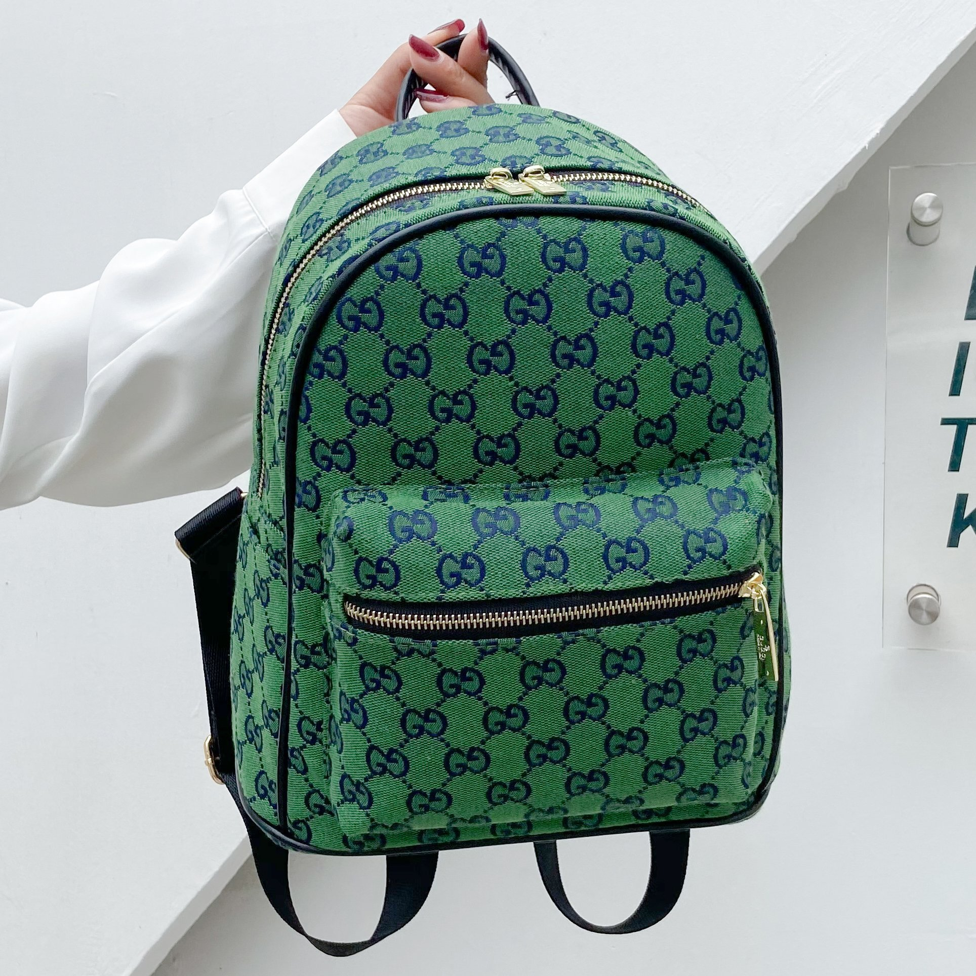 Image of GG Multicolor Men's and Women's Canvas Double G Backpack