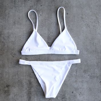 the minimalist bikini - white