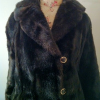 1970's French Tissavel Faux Fur Coat Size 12