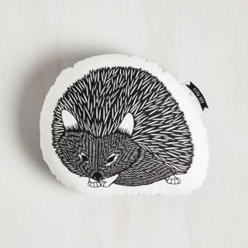Dorm Decor Squad Goals Pillow in Noir Hedgehog by ModCloth