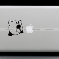 Kirby Eats Apple NES Macbook Decal Gaming Computer Laptop Auto Wall Sticker   (SN26290)