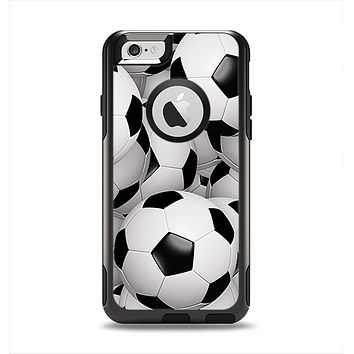The Soccer Ball Overlay Apple iPhone 6 Otterbox Commuter Case Skin Set