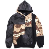 Day & Night Pieced Pullover Hoody Black / Camo