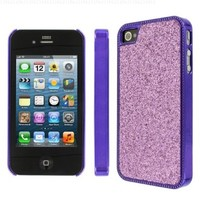 MPERO Collection Light Purple Sparkling Glitter Slim-Fit Glam Case for Apple iPhone 4 / 4S